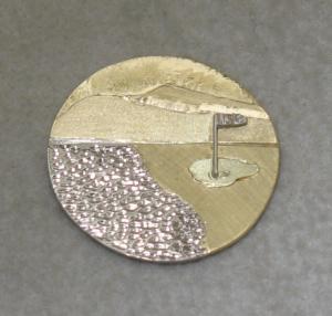 China casting & polishing magnetic golf high quality zinc alloy Metal Custom Ball Markers on sale
