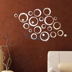 China Hot Sale Decorative Mirror Wall Sticker Decorations DIY Mirror Wall Sticker For Decal on sale