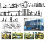 Cadena de producción de goma de la banda transportadora, prensa de moldeo de goma