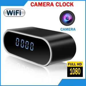 China Best home surveillance 1080p wifi hidden camera App Real-time Video Remotely Wireless P2P IP camera smart alarm clock on sale