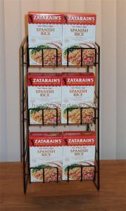 China 3 Layer Retail Gondola Shelving Supermarket Metal Wire Food Display Shelf Countertop on sale