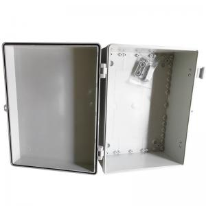 China Grey White Waterproof Terminal Junction Box / Hinged Plastic Electrical Enclosures on sale