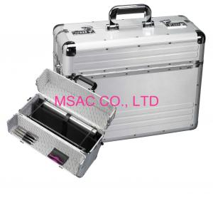 China Fireproof Padded Aluminum Attache Case / Document Cases For Carry Laptop on sale