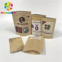 Doypack Laminated Aluminum Foil Zip Kraft Paper Pouches For Packaging Rice Body Scrub
