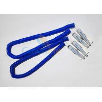 Plastic Stretchy Dental Scarfpin Coiled Cord Blue Color 30CM Long Custom Logo Printing