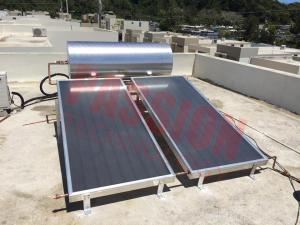 China 150L Stainless Steel Integrated Flat Plate Solar Water Heater Direct Plug Connection Type on sale