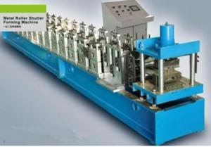 China Galvanized Cold Steel Sheet Roll Forming Machine , PU Shutter Door Roll Forming Machine on sale