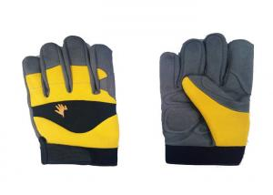 China Excellent Grip Mechanic Work Gloves , Customized Synthetic Leather Gloves on sale