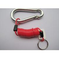 Coiled Trailer Emergency Breakaway Cable Tool Safety Lanyard Big Carabiners