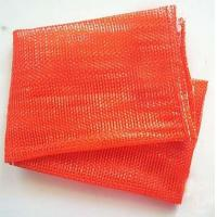 China Orange Color Plastic , PE , PP Woven mesh vegetable bags 50kg For Onions And Eggplant on sale
