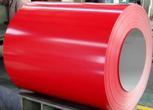 China Furniture Use Color Coated SPCC , TDC51D + AZ Steel Coil 50 - 150G / M2 270 - 500 Mpa on sale