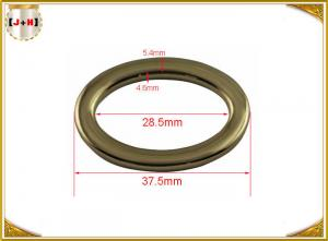 China Nickel Plated Round Ring Small Metal Loops Hardware For Belt / Bag / Garment on sale