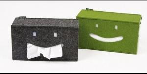China High quality cheap felt paper box and tissue box on sale