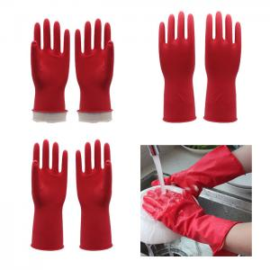China Water Proof M 30g Dip Flocklined Housheold Cleaning Gloves on sale