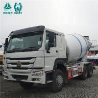 HOWO Cement Mixer Truck / Manual Transmission Truck Mounted Concrete Mixers