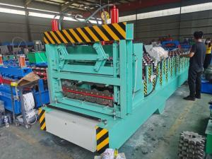China PPGI Roof Tile And IBR Sheet Roll Forming Machine High Speed on sale