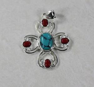 China 925 silver gemstone pendant jewelry supplier