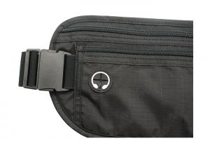 Quality Stitching Travel Waist Bag Secure Fanny Pack With Silkscreen Printing Logo for sale
