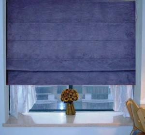 China Blue Pleated Roman Windows Shades Blinds Blackout Waterpoof Sunscreen on sale