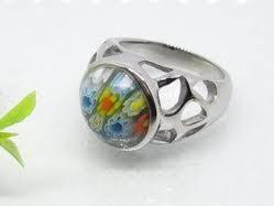 China OEM fashion Elegant  Women murano glass ring for Anniversary, Engagement 1100014 on sale