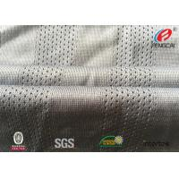 China Fast Dry Fit  Athletic Mesh Knit Fabric , Mesh Football Jersey Fabric By The Yard on sale