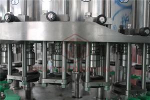China Metal Screw Cap Bottle Filling And Capping Machine / Hot Juice Glass Bottle Filler on sale