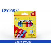 China Beautiful Gel Wax Crayons 12 Colors Regular Triangle Wax Crayons on sale