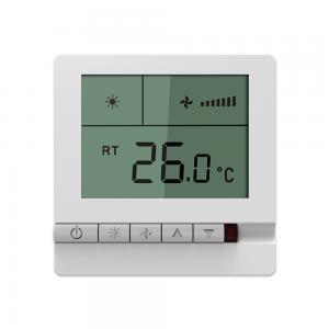 China Wireless Fan Coil Room Thermostat High Accuracy With NTC Sensing Element on sale