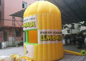 China Lightweight Inflatable Lemonade Stand One Door And One Window Long Life Span on sale
