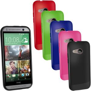 China Customized Green Glossy TPU Gel HTC Cell Phone Case for HTC One Mini 2 on sale