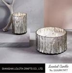 Silver Glistened Color Bottle Home Scented Candles With Frangipani Fragrance
