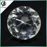 2015 hot sale cheap wholesale Diamond Cut synthetic gemstone white corundum price