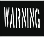 Warning Symbol Custom Sign Stencils PVC Material Black Color Non - Toxic