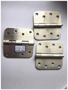 China Sn Colo Heavy Duty Exterior Door Hinges Big Round 5/8 Round Corner With Screws on sale