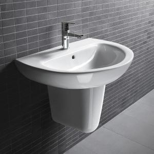 500x460x840mm D206 Bathroom Unique Pedestal Wall Hung Wash Basins Cloakroom  Sink