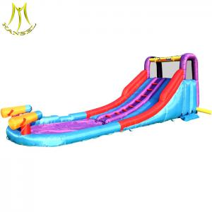 China Hansel fair attractions names of amusement park equipment inflatable water slide for sale on sale