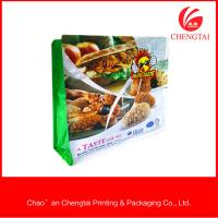 Fast Food Packaging Flat Bottom Pouches Oxygen Resistance Flat Bottom Bags
