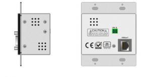 China Seamless Digital Matrix Switcher HDMI/VGA To HDBaseT Wallplate Support POC Power Supply supplier