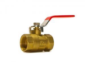 China DN15  BSP Brass Valve Fittings Brass Ball Valve Threaded Stainless Handle on sale