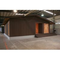 LVL Material Brown WPC House , Durable Weather Resistant Wood Cladding House