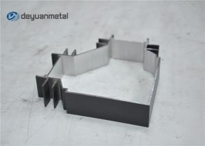 China Perfil de alumínio da extrusão do revestimento cinzento do pó com comprimento 20 pés on sale