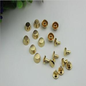 China Fashion accessory plain gold color 8 mm round metal decorative rivets for handbags on sale