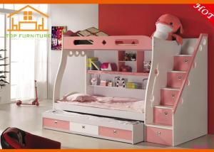 China Pink Hot sale kids slide bed Pink Latest design European style bed car kids Pink New model castle bed kids on sale