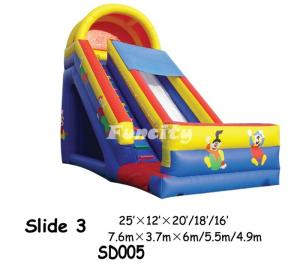China Durable PVC Inflatable Dry Slide / Inflatable Slip And Slide For Kids Playing on sale