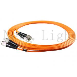 China FC-FC  Orange  color multi mode PVC/LSZH  optical fiber patch cord 5 meters length on sale