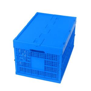China 100% Virgin Polypropylene Plastic Pallet Boxes / Collapsible Plastic Box Attached Lids on sale