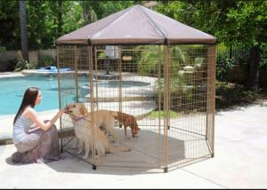 China Black Color Large Dog Cage Outdoor Dog Kennel With Cover Easy Assemble on sale
