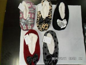 Quality slippers for lady coral fleece print for sale