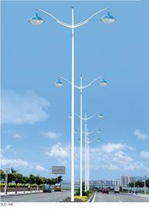 China Octagonal steel street lighting types of led lamp pole drawing on sale