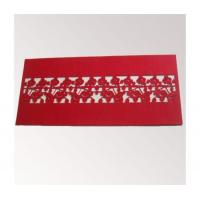 Laser cut felt table cloth/table runner